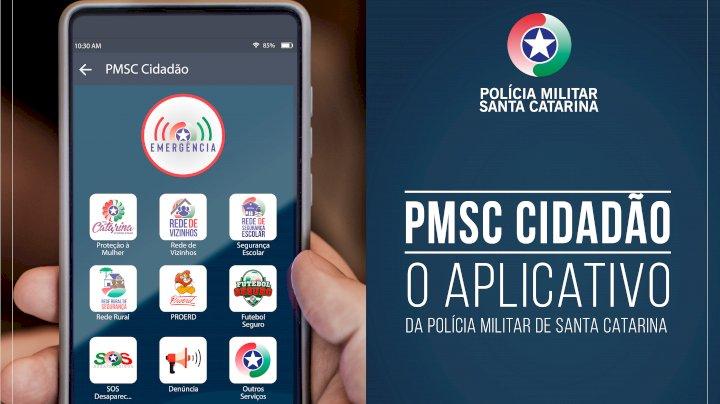 Aplicativo de celular PMSC Cidadão
